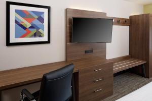 A television and/or entertainment center at Holiday Inn Express Harrisburg East