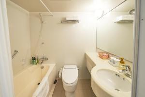 A bathroom at Sotetsu Fresa Inn Nagano-Zenkojiguchi
