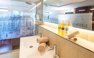 A bathroom at Hotel Scheuble