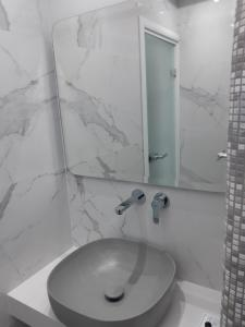 A bathroom at Emmanouela Studios & Villas