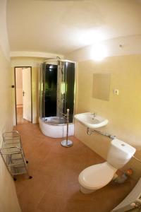 Koupelna v ubytování Pension Babka U Zbuja