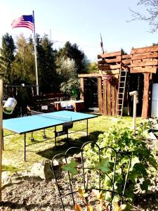 Ping-pong facilities at FRANKES LODGE Apartment mit Garten und Pool or nearby