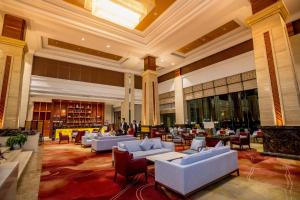 The lounge or bar area at Landmark Mekong Riverside Hotel