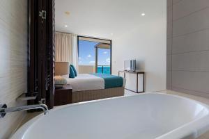 A bathroom at Mirage Whitsundays