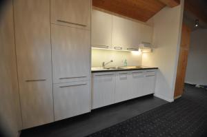 Küche/Küchenzeile in der Unterkunft Destimotel