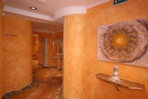 Koupelna v ubytování Wellness-Pension Jagahütt'n