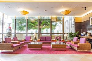 The lobby or reception area at Jia Hsin Garden Hotel