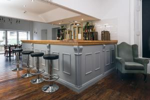 The lounge or bar area at Portland Hotel