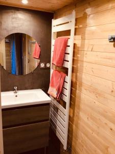 Salle de bains dans l'établissement Le duplex De La Ferme Du Tertre