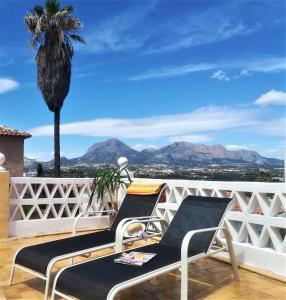 En balkong eller terrasse på Apartamentos Mundaka Albir