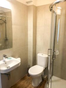Łazienka w obiekcie Hotel Korona