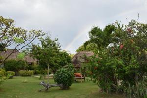 A garden outside Sunia Loka Bungalows & Dive Center