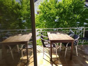 Ein Balkon oder eine Terrasse in der Unterkunft Ferienwohnung Wiedmann
