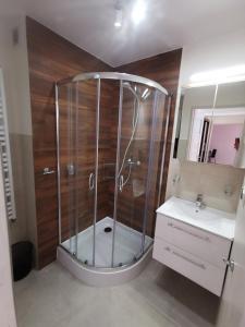 A bathroom at Apartament KAKADU