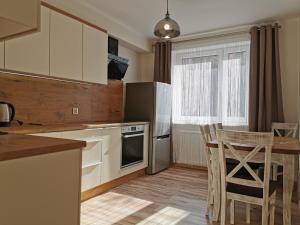 A kitchen or kitchenette at Apartament KAKADU