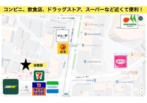 The floor plan of BEST PLACE IN SHINJUKU 無料Wifi キッチン設備 ワークデスク有