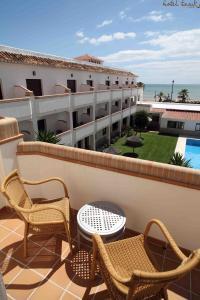 Een balkon of terras bij Hotel Tarik