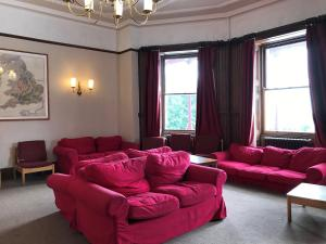 A seating area at FSC Malham Tarn Hostel