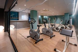 The fitness center and/or fitness facilities at Caprici Beach Hotel & Spa