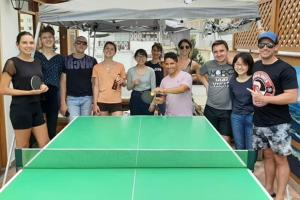 Ping-pong facilities at Lima White House or nearby