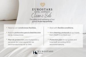 Ein Zertifikat, Auszeichnung, Logo oder anderes Dokument, das in der Unterkunft Eurostars Hotel Excelsior ausgestellt ist