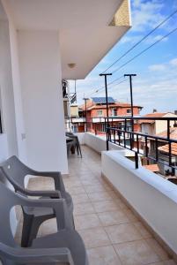 A balcony or terrace at Family Hotel Apolonia