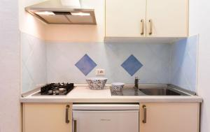 A kitchen or kitchenette at Camping Village Capo D'Orso