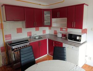A kitchen or kitchenette at Apartmán Adam
