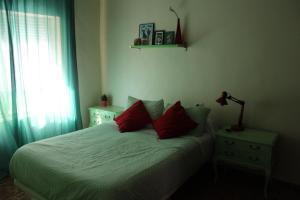 Cama o camas de una habitación en Alojamiento casa de pueblo