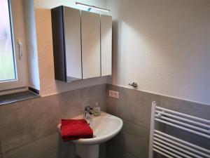 Ein Badezimmer in der Unterkunft Ferienwohnungen Hass - Haus 1