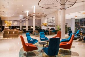 A restaurant or other place to eat at Hilton Diagonal Mar Barcelona