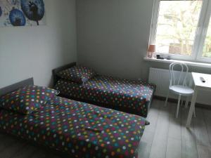 Łóżko lub łóżka w pokoju w obiekcie Apartamenty Przy Rynku