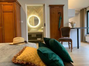Ein Sitzbereich in der Unterkunft Oasis Resort