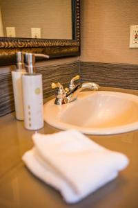 A bathroom at Pine Ridge Inn