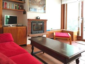 A television and/or entertainment center at Scoiattolo
