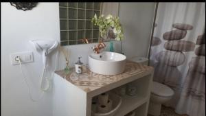 Salle de bains dans l'établissement Casa en la Plaza de Zahara
