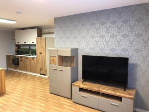 TV a/nebo společenská místnost v ubytování Ferienwohnung Kleistring