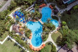 シャングリラ ホテル ジャカルタの敷地内または近くにあるプールの景色
