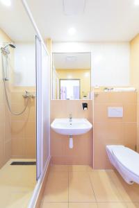 Koupelna v ubytování Penziony Beneš