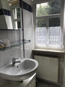 Ein Badezimmer in der Unterkunft Pension&Gasthaus Zschirnsteinbaude