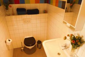 Een badkamer bij Tulpenhuys