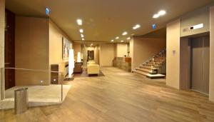 The lobby or reception area at Rias Bajas