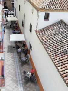 A balcony or terrace at Hotel Mesón El Número Uno