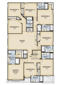 The floor plan of Family Resort - 12BR Mansion - Private Pool/Games/More!