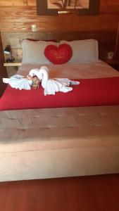 Cama ou camas em um quarto em Pousada Vo Bibi