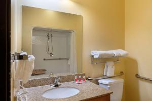 A bathroom at Econo Lodge Inn & Suites Bridgeport