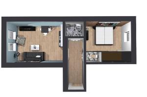 Půdorys ubytování Apartment Belvedere