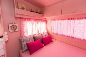 Een bed of bedden in een kamer bij Camping Miramar