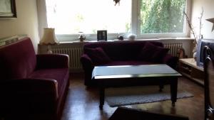 Ein Sitzbereich in der Unterkunft Bei Rosi
