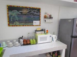 A kitchen or kitchenette at Casa del Solar Centro Cozumel